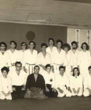 Primeiro estágio de Aikido em Portugal, Academia de Budo, 1967, dirigido pelo Mestre Georges Stobbaerts Na primeira fila, à esquerda, José Araújo