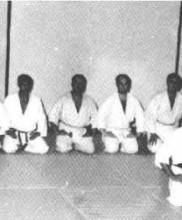 Mestre Pires Martins dirige uma das primeiras aulas de Karate-do em Portugal, Academia de Budo, 1963