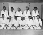 Aula de Karate-do dirigida pelo Mestre Pires Martins, Academia de Budo, 1965