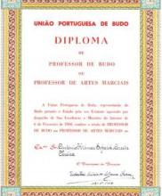 Diploma de Professor de Budo – Mestre Corrêa Pereira