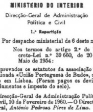 1 – Aprovação da Constituição em Associação