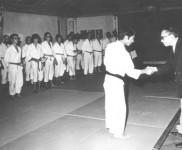 Dr. Pires Martins e o Mestre Tetsuji Murakami, Academia de Budo, 1971