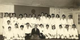 Estágio de Aikido dirigido pelo Mestre Georges Stobbaerts, Academia de Budo, 1968