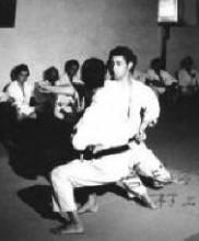 Mestres Tetsuji Murakami e Alexandre Gueifão na Academia de Budo, 1971