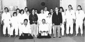 Estágio de Aikido dirigido pelo Mestre Hirokazu Kobayashi, Academia de Budo, 1972
