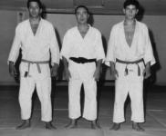 Pires Martins com dois alunos: Raul Cerveira e Manuel Ceia, 1965